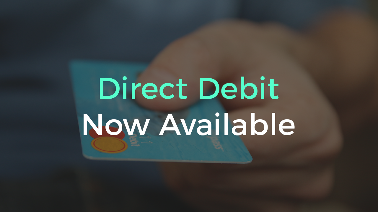 Direct Debit Now Available