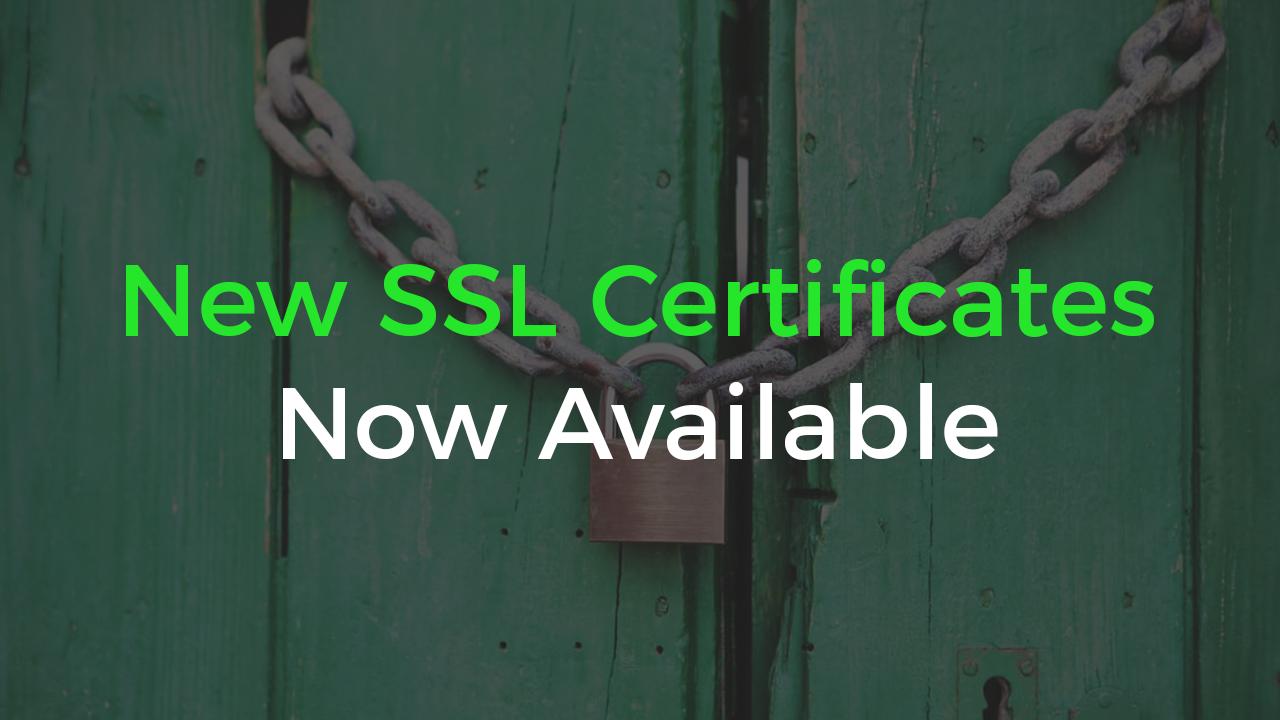 New SSL Certificates