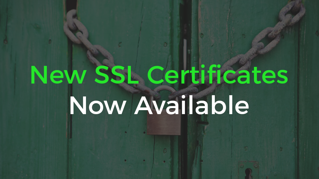 New SSL Certificates